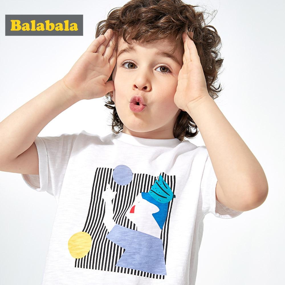 Tshirt Short-Sleeve Balabalachildren-Clothing Printed Baby Children's Summer New Boy