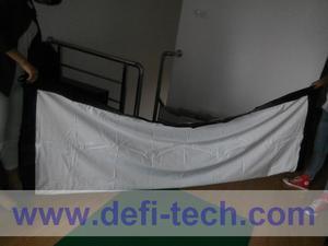 Распродажа с завода DfLabs! 200 дюймовый экран для проектора 16:9 HD, портативный складной передний экран для проектора с Люверсами