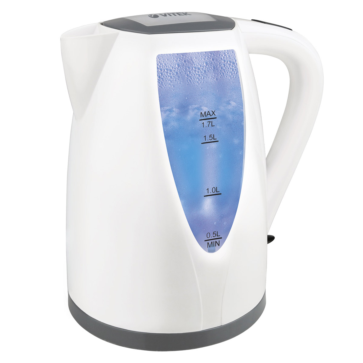 Electric kettle Vitek VT-7014 (W) (Power 2200 W, volume 1.7 liters, cord storage compartment, 360 ° rotation, auto power off) electric water kettle haier hek 182 auto power off protection wired handheld instant heating electric kettle