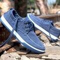 Мужская повседневная обувь 2016 Новых мужчин плоские туфли холст мода повседневная дышащей обуви осень летние дышащие повседневная обувь 07