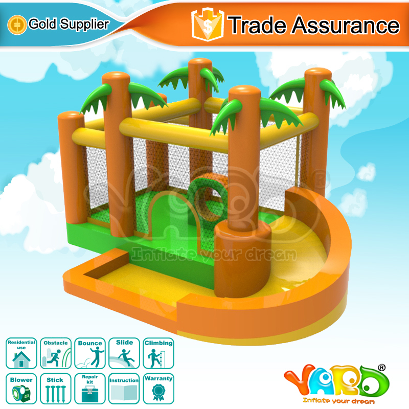 YARD bounce house jungle inflatable bouncer trampoline moonwalk with blower for kids party