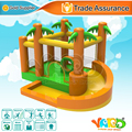 Yard selva inflável trampolim bouncer casa do salto moonwalk inflável com ventilador para a festa de crianças