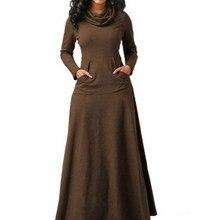 ddcffe5221c2 iziget Casual Loose Women Long Sleeve Maxi Dress Vintage Solid Pocket  Chiffon Dress. US $15.95 / piece Free Shipping