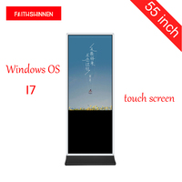 55 touch screen kiosk Windows I7 shopping mall advertising photo booth totem touch screen kiosk digital signage