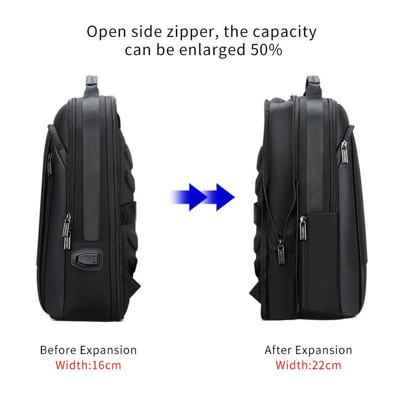 Rücken Enlarge Rucksack 15 Männer Für Schule 6 Business Vergrößern Bopai Atmungsaktive Backpack Zurück Anti Laptop Schwarz Pack Zoll Theft aCwdfqT