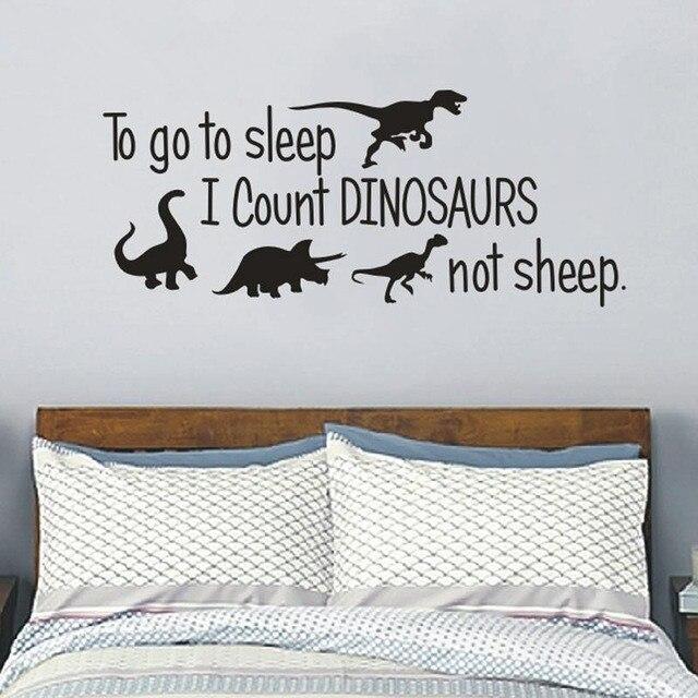 Dinosaurus Vinyls slaapkamer Decor, te gaan slapen Ik Count ...