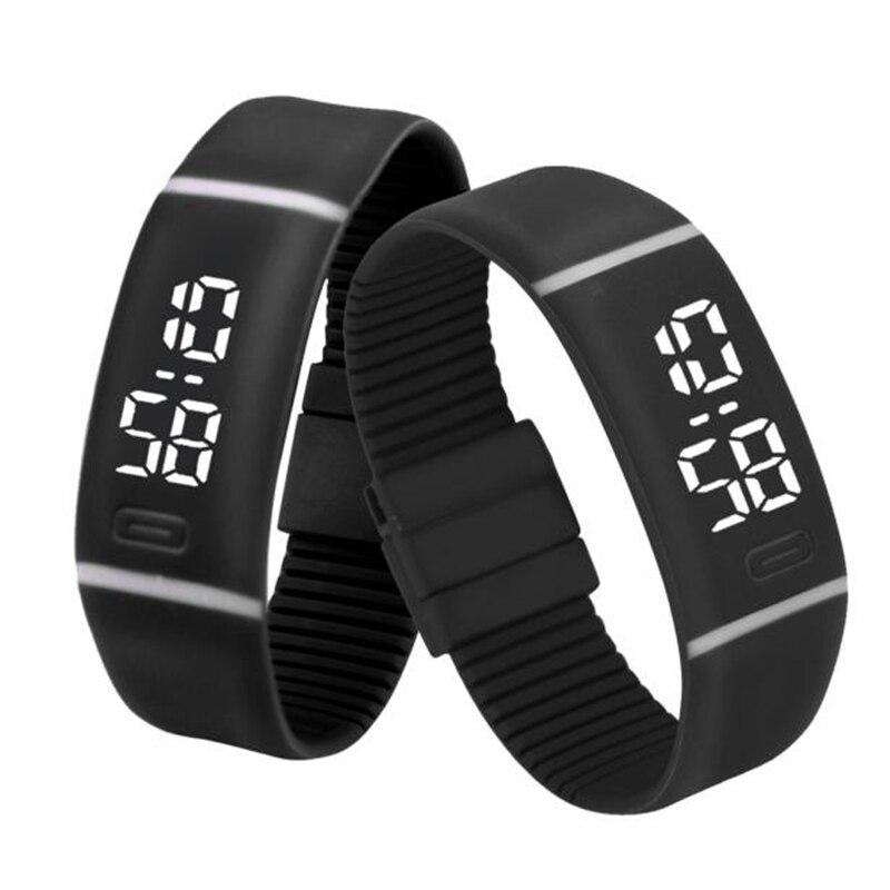 Mens Womens Rubber LED Watch Date Sports Bracelet Digital Wrist Watch