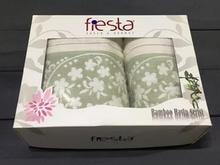 Набор полотенец fiesta, PAPATYA, 2 предмета, кремовый/салатовый
