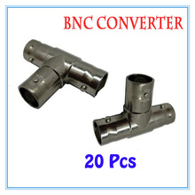 20Pcs BNC female three channel Connector Extender for CCTV Camera Security Video Surveillance System