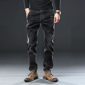 Image 3 - Mens Regular Fit Jeans Clothing Plus Male Autumn Elastic Stretch Denim Straight Leg Classic Cowboy Pants Big Size 40 42 44 46 48