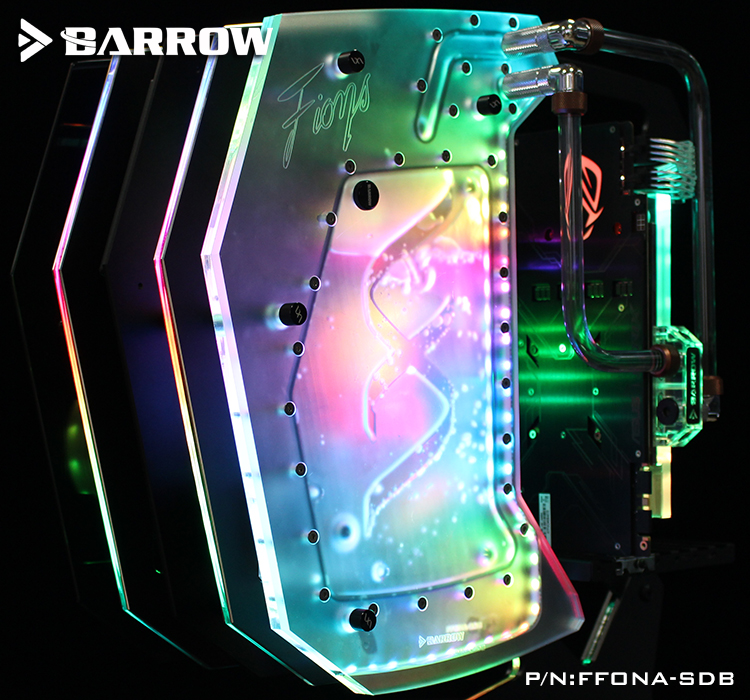 FFONA-SDB Barrow watercooling waterway broad for FUXK FIONA butterfly open computer case LRC 2.0 5V cooler water channel цена и фото