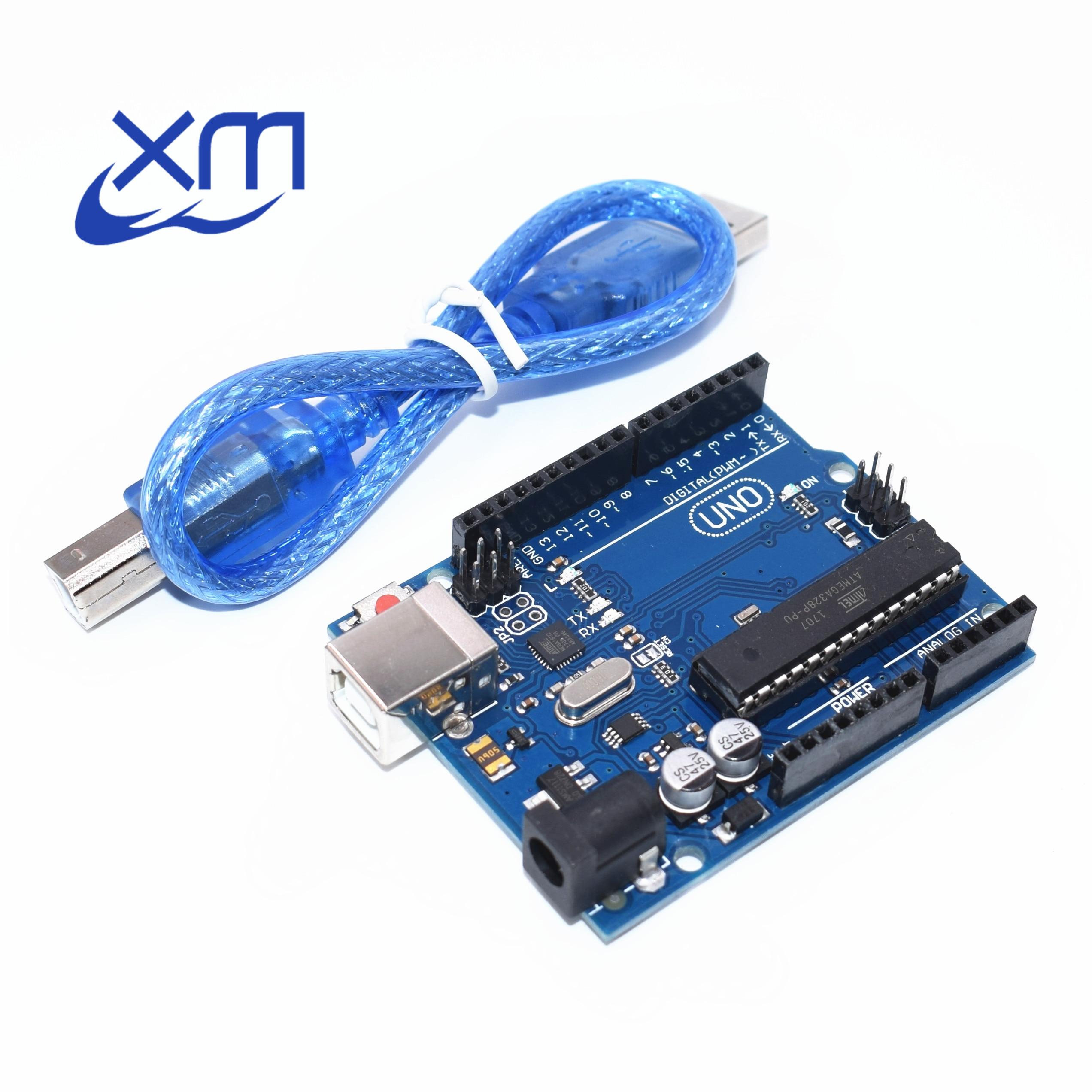 10set UNO R3 for Compatible MEGA328P ATMEGA16U2 10PCS UNO R3 + 10PCS cables export trade version no logo
