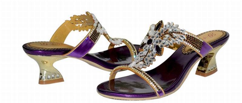 Strass Élégant 34 Haute Chaussures 44 Summer Wedding Sabot Sandales Grande De Pantoufles Bout Ouvert Cristal Hot Taille Luxe Dames Shoes À Épais Femmes Talons Purple CBoxde