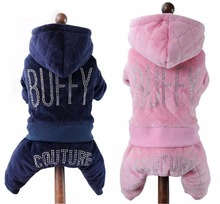 Petalk  Warm Winter Pet Clothes Dog Jumpsuit Rompers Coat For Small  Dogs Thicken Pet Apparel hipidog sheep pattern coral velvet parkas pet dog pants autumn winter thicken warm jumpsuit for chihuahua small dogs cat clothes