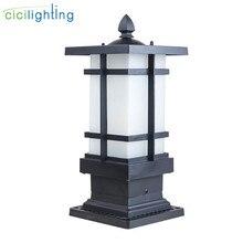 Матовая черная наружная дорожка, светодиодный светильник для газона, водонепроницаемая Ландшафтная дорожка E27, лампа для патио, сада, двора