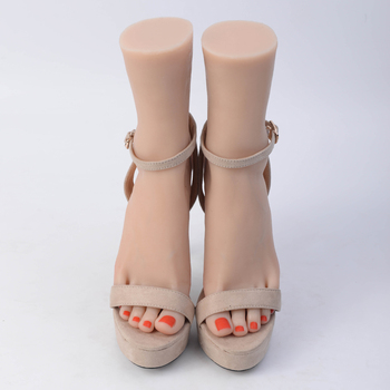 1 Pair Silicone Lifesize Female Mannequin Foot Display Jewerly Sandal Shoe Sock Display Art Sketch with Blank Nails
