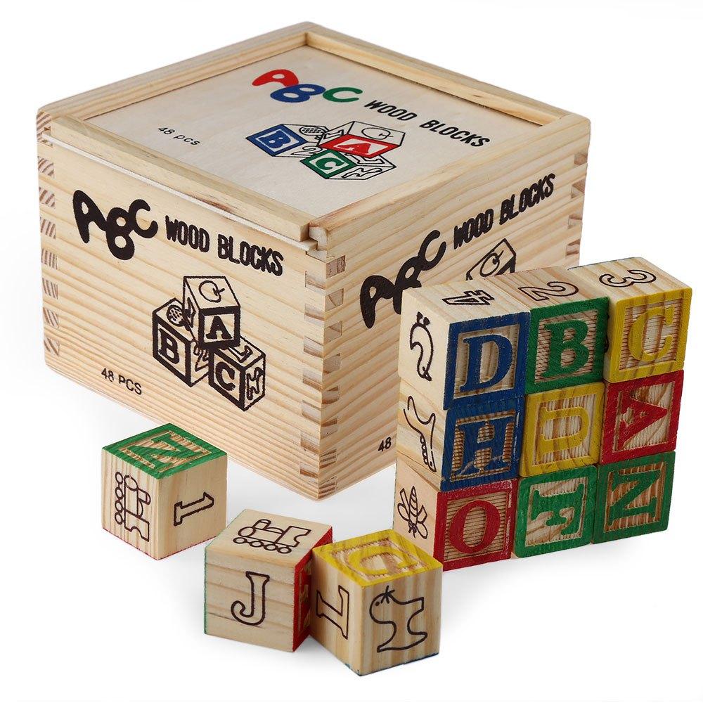 цена на New Wooden Blocks Toys Digital Vintage Wood Block Set Children's Educational Toy for Baby Boy & Girl Gifts Intelligence Toy 2016
