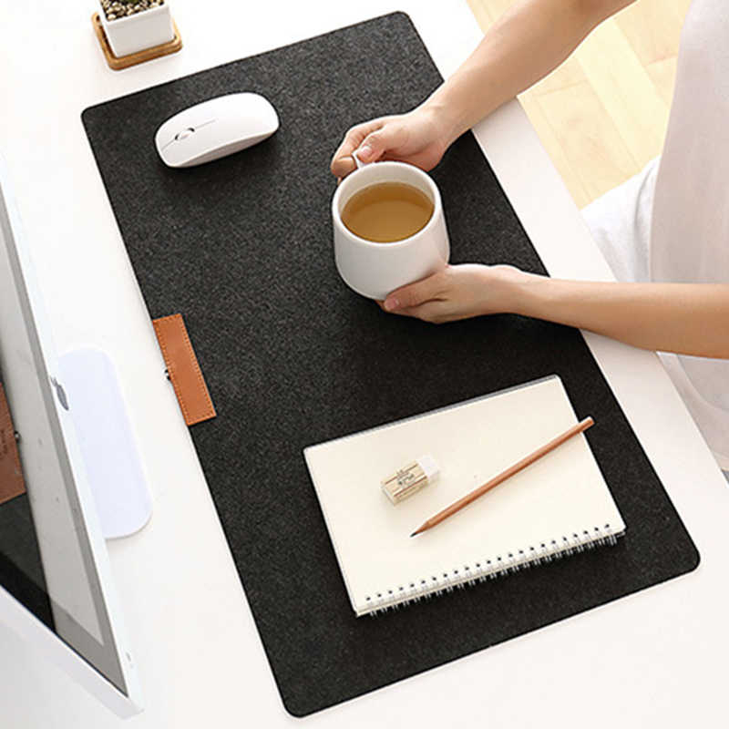 HOT Large Soft Felt Cloth Desktop Mouse Pad Keyboard Office Laptop Notebook PC Table Mat Home Office Computer Desk Mousepad