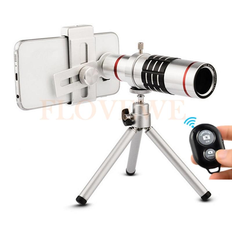 imágenes para HD teléfono Móvil kit de lentes Clip Universal 18x Zoom Óptico Teleobjetivo Telescopio Con Trípode Control De Bluetooth Para El teléfono Celular