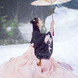 Nieuwe Hanfu vrouwelijke kostuum vrouwen lente en zomer borduren borst borst rok kostuum kostuum fee fris en elegant