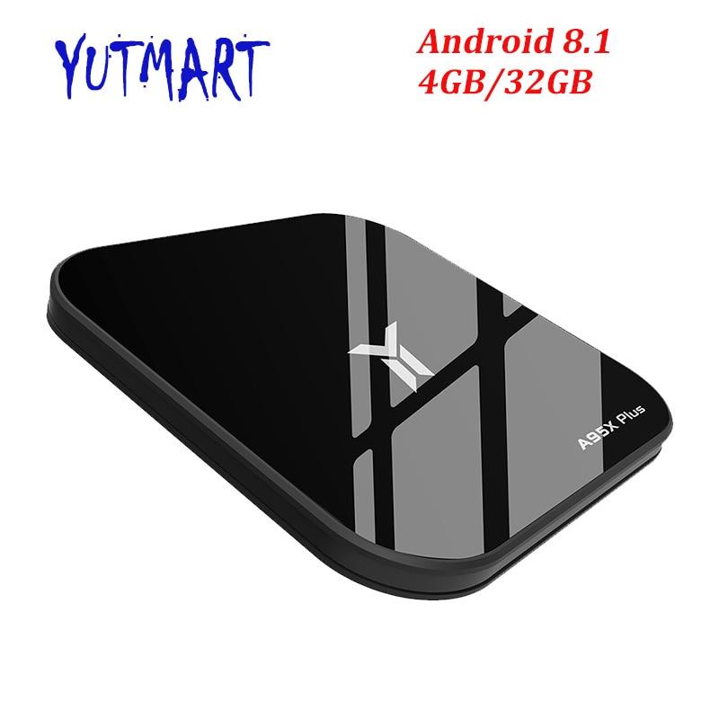 A95X Plus Android TV Box Amlogic S905 Y2 Android 8.1 4 GB DDR4 32 GB ROM 2,4G/5G wiFi USB3.0 BT4.2 Unterstützung 4 K H.265 Media Player