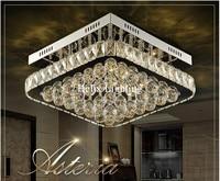 Nouvelle Arrivée En Cristal Moderne LED Plafonnier Carré Lampe En Cristal de Plafond pour Couloir Couloir Livraison Gratuite Prêt Stock