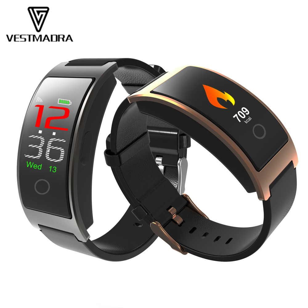 VESTMADRA CK11C Color Screen Fitness Tracker Heart Rate/Blood Oxygen Monitor Smart Wristband Call Reminder Passometer PK CK11S