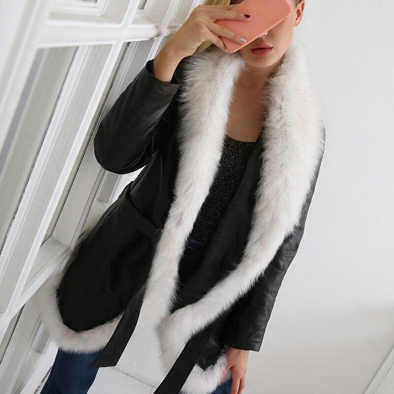 Manteau blanc 2x Turn Hiver Vestes La down Longues Plus Femmes Automne Fourrure Manches Collar À Mode Noir Taille Casual Patchwork 7q2211 De Faux Pu Ceintures 814TwS4q