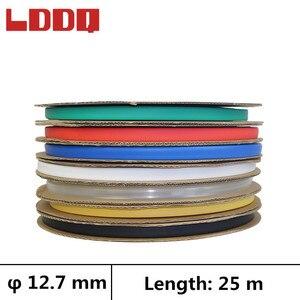LDDQ 25m 3:1 rurka termokurczliwa z klejem klej Dia 12.7mm owijka rękaw kablowy termokurczliwy wodoodporna rurka termokurczliwa gaine thermo