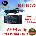 Wholesale new laptop AC Charger power adapter for  Thinkpad T60 T61 X60 X61 T410 X300 X301 4.5A  7.9*5.5mm  90W FREE SHIPPING