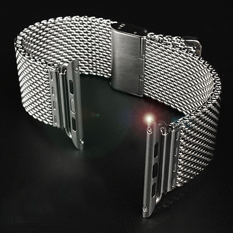 Fashion Milanese Silver Stainless Steel Watch band Strap For A p p l e Watch iWatch