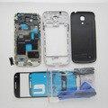 Черный/белый Полный Крышку Корпуса + i9192 Ближний рамка + крышка Батарейного отсека Чехол Для Samsung Galaxy S4 Mini (двойной карточки) и Внешний Стекло