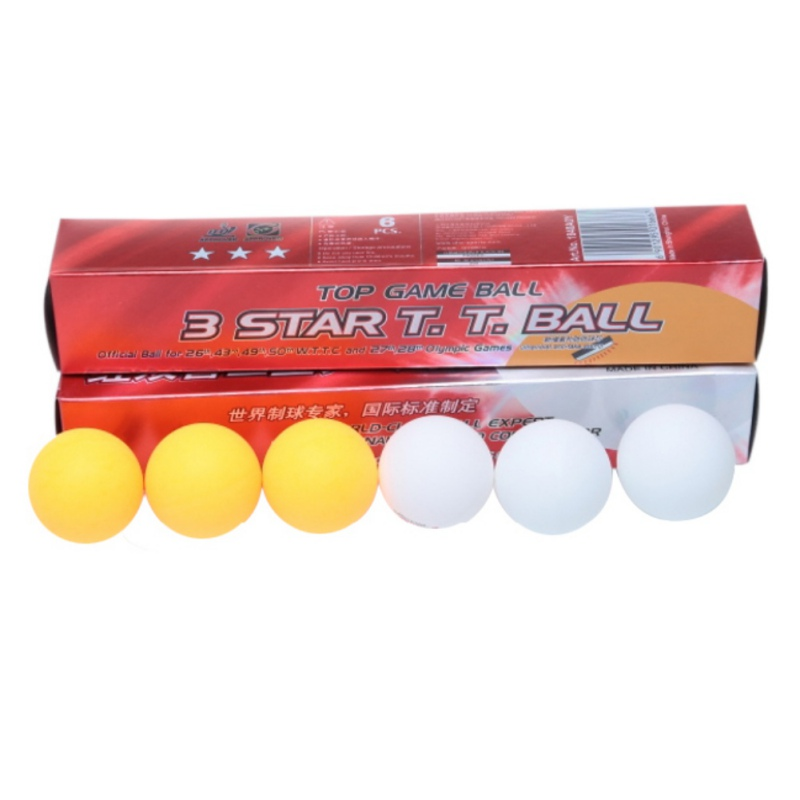 Outdoor 6Pcs/Boxes Professional High Quality 3 Stars DHS White Ping Pong Balls 2.8G Weight Table Tennis Balls ...