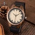 BOBO BIRD модные классические мужские деревянные часы из черного дерева ручной работы Кварцевые наручные часы Лучший подарок erkek kol saati в коробк...