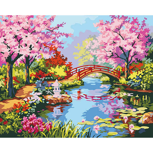 Spring Season By Numbers Picture Modular Diy Digital Oil Painting On