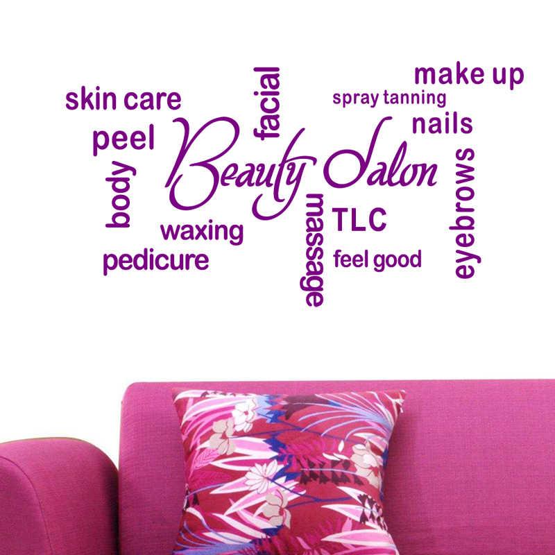 DCTAL Hair Design Salon Sticker Beauty Salon Decal Haircut Posters Vinyl Wall Art Decals Decor Windows Decoration Mural Mb007