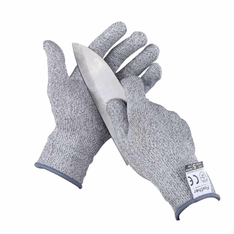 1 Pair Of Cut-Proof Gloves Food Level 5 Protection Safety Kitchen Cutting Oyster Fish Gloves Cutting Safety Gloves