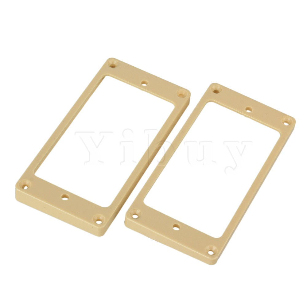 Yibuy 2 PCS 5/7mm 7/9 mm ABS Flat Bottom Humbucker Pickup Mounting Ring Frames