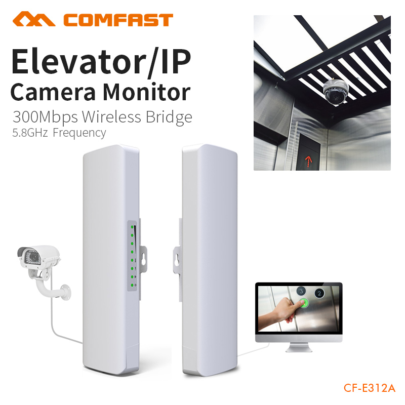 Outdoor Access Point 3km - 5km 300Mbps 5.8Ghz Powerful WI-FI Antenna wireless bridge For Monitoring Project CF-E312A 1pair