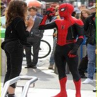 Peter Parker Spiderman Kostuum Costume 3D Print Fullbody Halloween Spider Man: Far From Home Cosplay Suit For Kids Adult Custom