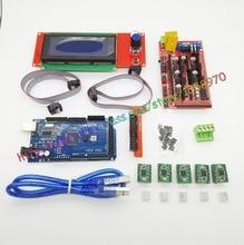 3D printer motherboard Suite 1Pcs 1.4 Controller + 5Pcs A4988 Stepper Driver Module /RAMPS 1.4 2004 LCD control