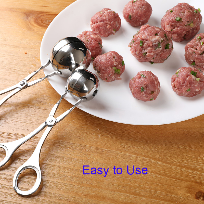 Kitchen Convenient Meatball Maker Stainless Steel Stuffed Meatball Clip DIY Fish Meat Rice Ball Maker Meatball Mold Tools 2018