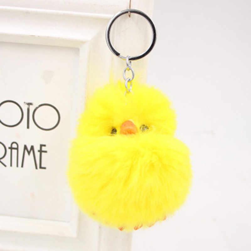 10 CENTÍMETROS bonito pato amarelo brinquedo de pelúcia chaveiro boneca engraçado da novidade dos desenhos animados animal keychain presente pingente de pelúcia brinquedos para as crianças
