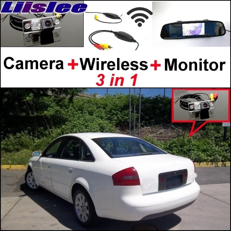 Liislee Spécial Vue Arrière Wifi Caméra Sans Fil Récepteur Miroir Moniteur facile Système de Stationnement Pour Audi A6 S6 RS6 C5 MK5 1997 ~ 2004