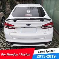 Novo design traseiro do carro spoiler asa para ford mondeo fusion 2013 14 15 16 17 18 19 perfuração livre esporte corrida carro spoiler para fusão