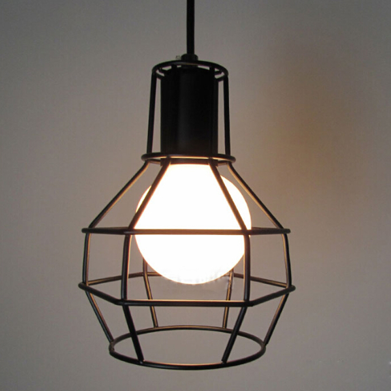 vintage lighting pendants. Classic Black Nordic Industrial Lamp E27 Lampshade, Bulb Cage For Vintage Light Pendant Light/wall DIY Lampshade-in Covers \u0026 Shades From Lights Lighting Pendants