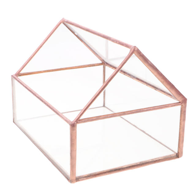 Glass House Terrarium Geometric Container Planter Wedding Card Box