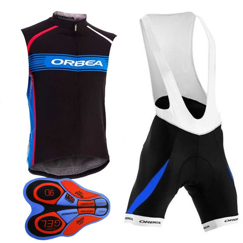 New Team ORBEA Cycling jersey 2017 Summer Breathable MTB bike sleeveless  vest bib shorts set bicycle Clothing Ropa Ciclismo G251-in Cycling Sets  from Sports ... c07a116e1