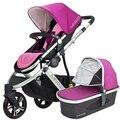 Invierno caliente del bebé del carro se puede sentarse puede mentir paisaje de alta bebé carro de tres ruedas plegable portable carrito niños
