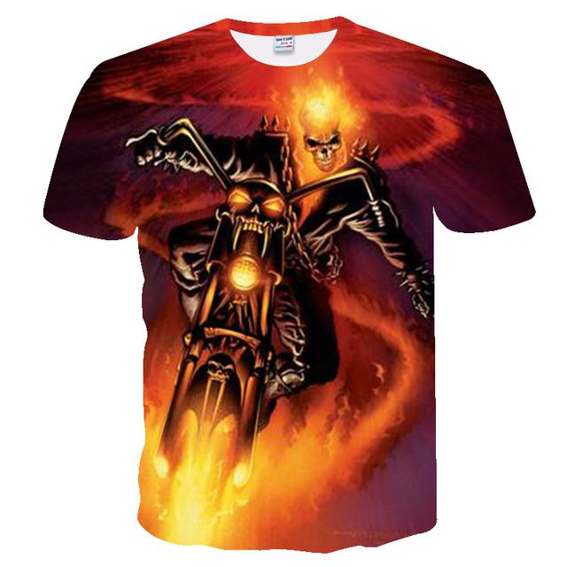 3d skull poker t shirts